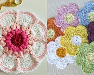 Blooming Crochet Dishcloths