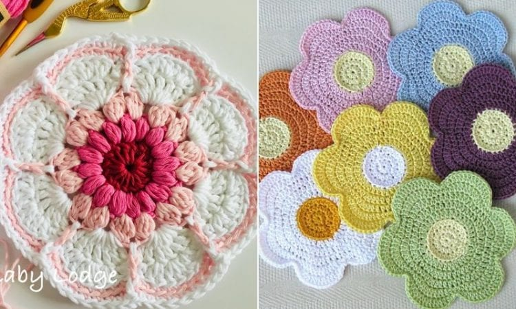 Blooming Crochet Dishcloths