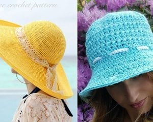 Easy Crochet Sunhats