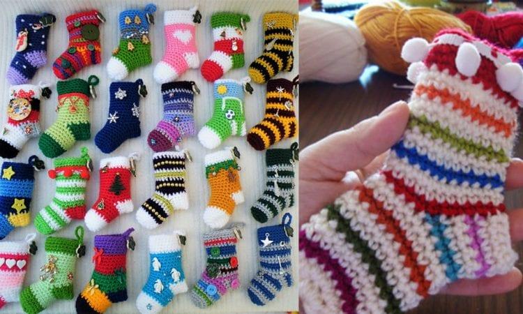 Stocking Advent Calendar Free Crochet Pattern