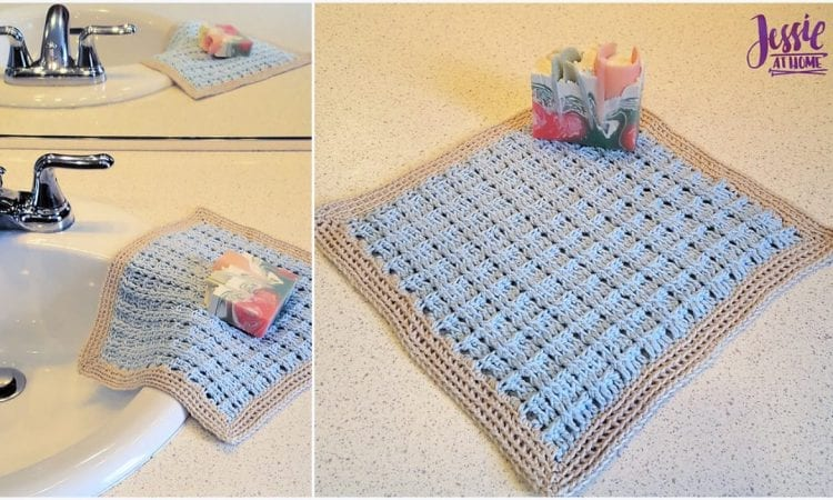 Broken Rib Washcloth Free Crochet Pattern