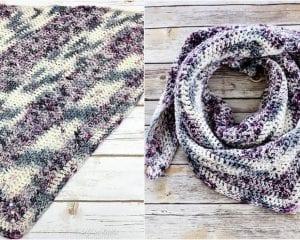 Luna Shawl Free Crochet Pattern