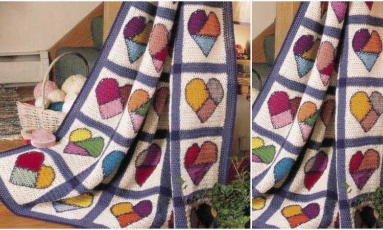 Mended Hearts Blanket Free Crochet Pattern