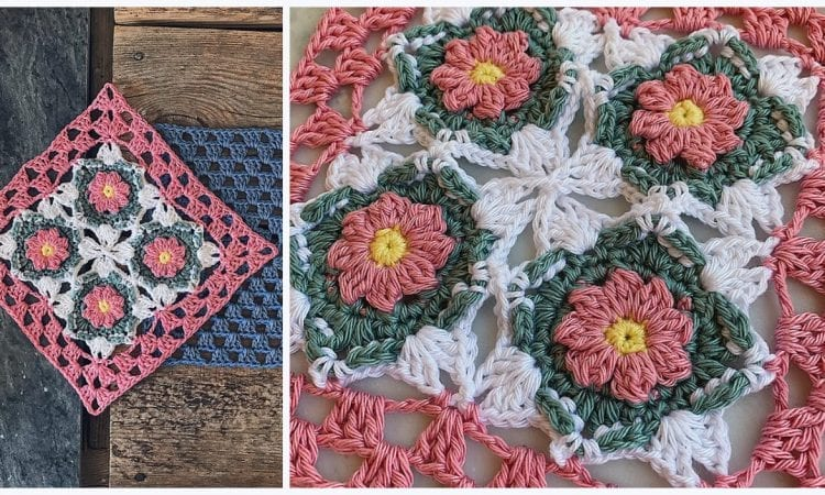 The After Effect Goes Granny Square Free Crochet Pattern