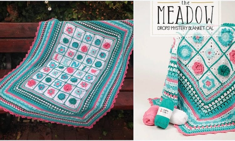 The Meadow Mistery Cal Blanket Free Crochet Pattern