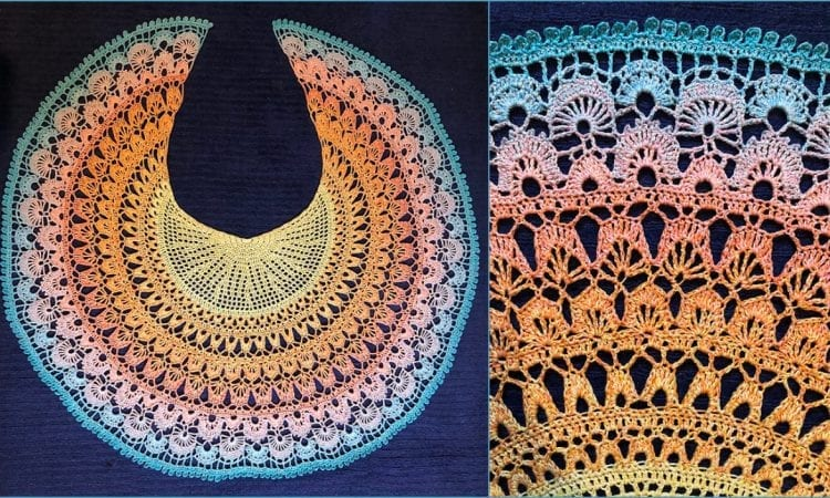 Birds of Paradise Shawl Free Crochet Pattern