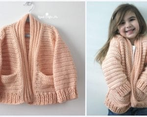 Chill Time Child's Cardigan Free Crochet Pattern