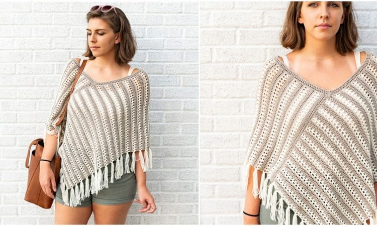 Duo Poncho Free Crochet Pattern