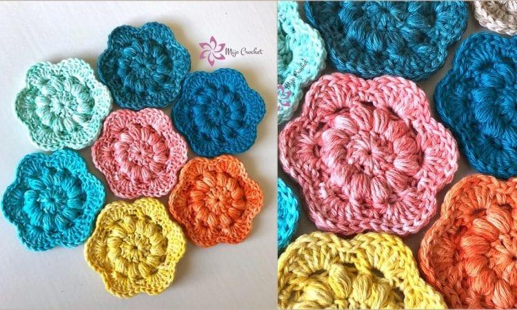 Floret Face Pad Scrubbies Free Crochet Pattern