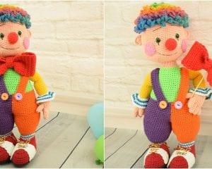 Fooly The Clown Free Crochet Pattern