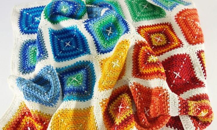 Happy Blanket Free Crochet Pattern