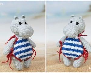 Hippo in Swimsuit Free Crochet Pattern