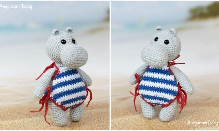 Hippo in Swimsuit Free Crochet Pattern