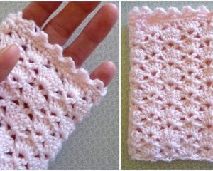 Lace Fingerless Mitts Free Crochet Pattern