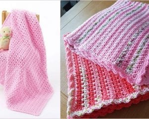 One Skein Baby Blanket Free Crochet Pattern