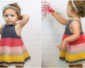 Puff Stitch Toddler Dress Free Crochet Pattern
