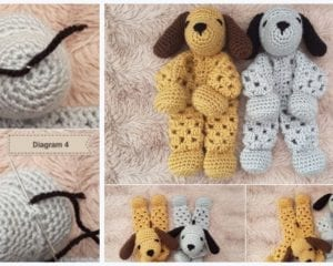 Puppy Dog Granny Hexagon Lovey Free Crochet Pattern
