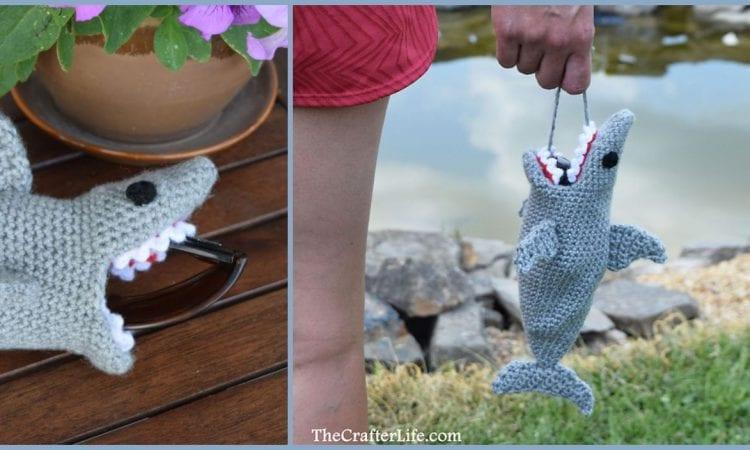 Shark Sunglasses Case Free Crochet Pattern