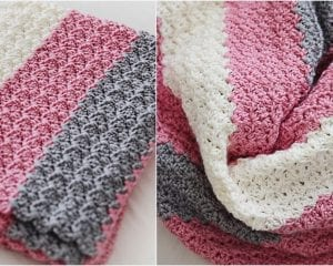 Simple Sweet Baby Blanket Free Crochet Pattern