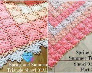 SS Triangle Shawl Free Crochet Pattern