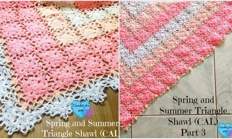SS Triangle Shawl Free Crochet Pattern