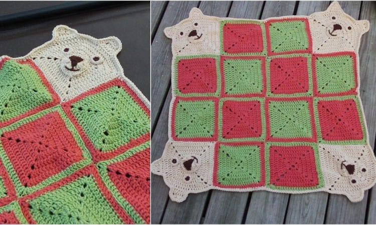 Teddy Go Round Baby Blanket