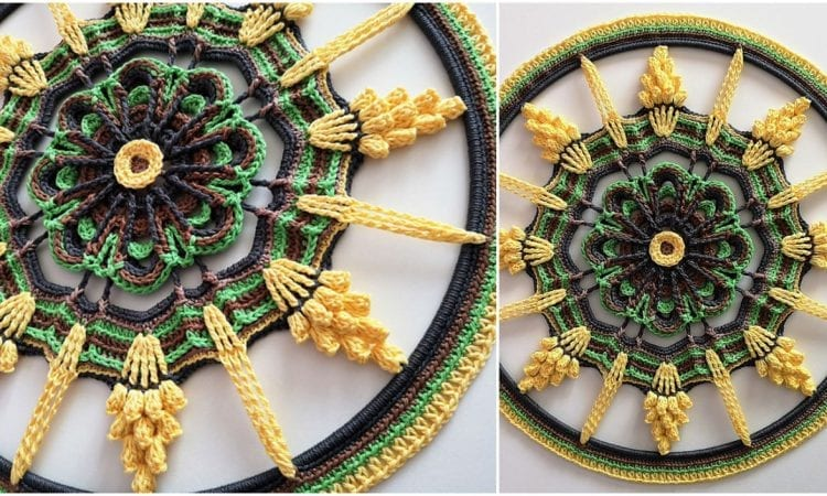 Tender Touch of Sunbeams Mandala Free Crochet Pattern