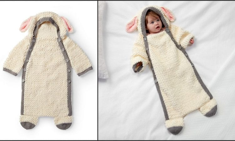Yawn the Sheep Snuggle Sack Free Crochet Pattern