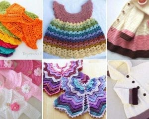 Adorable Crocheted Baby Clothes