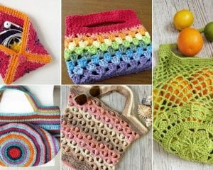 Colorful Crochet Bags and Purses