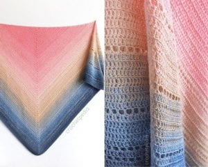 Lake Sunset Shawl Free Pattern and Tutorial