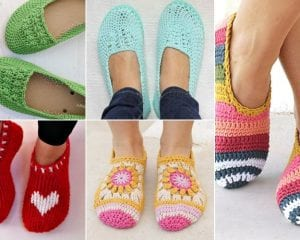 Lovely Crochet Slippers