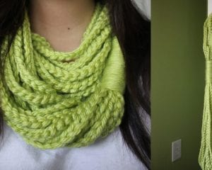 Chain Loop Circle Scarf Free Crochet Pattern