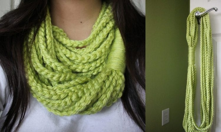 Chain Loop Circle Scarf Free Crochet Pattern