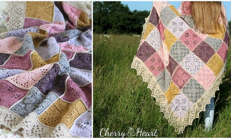 Beautiful Square Blanket Free Crochet Patterns | Your Crochet