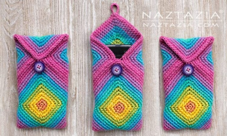 Chromatic Phone Case Free Crochet Pattern