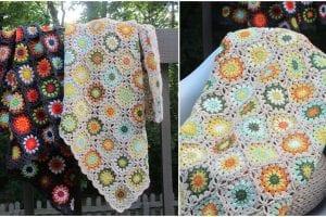 Flower Garden Blanket Free Crochet Patterns