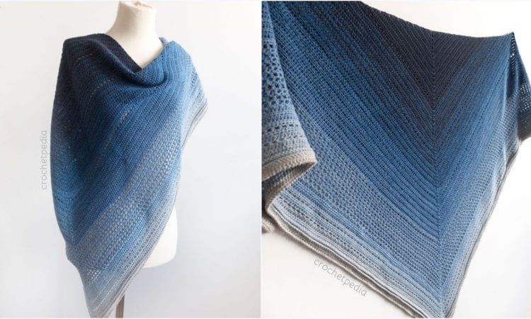Midnight Shawl Free Crochet Patterns