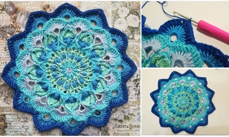 Peacock Mandala Free Crochet Patterns   Your Crochet