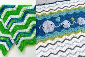 Amazing Ripple Baby Blankets Free Crochet Pattern