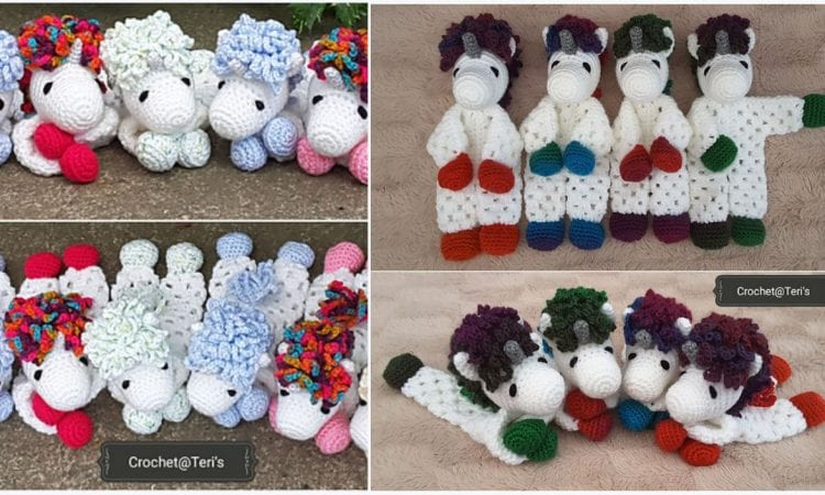 Unicorn Lovey Free Crochet Patterns