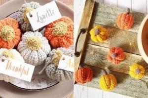 Fun Crochet Pumpkins Decor