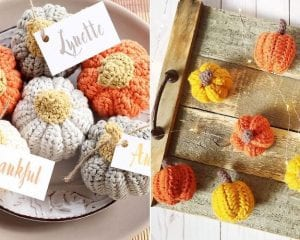 Fun Crochet Pumpkins Decor