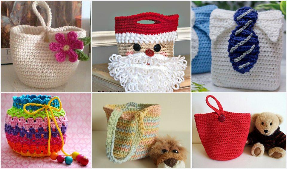 Gift bag crochet ideas